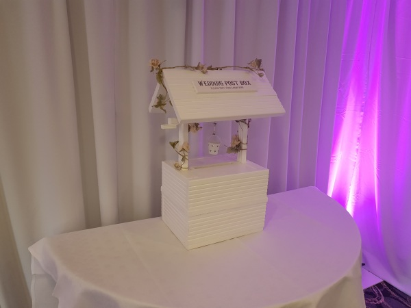 Wishing well wedding post box for cards