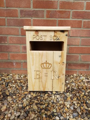 Wooden Post Box hire for weddings and events