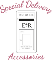 Special Delivery Accessories post box hire logo