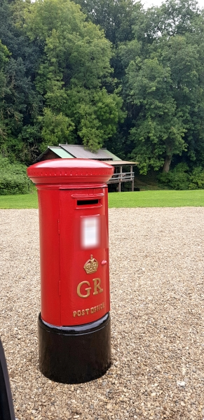 Large full size royal mail pillar box for wedding and event hire