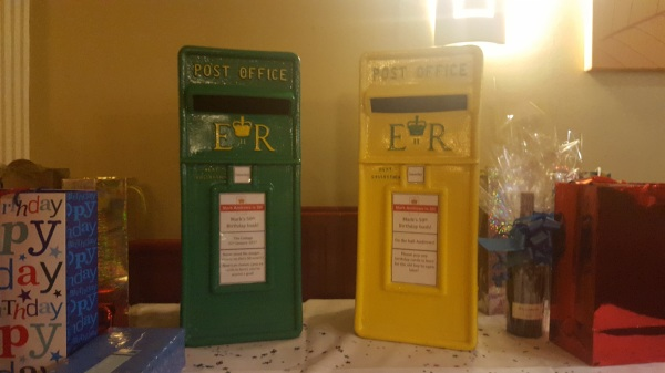 norwich city football themed birthday royal mail post boxes